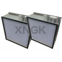 Quality Custom Cleanroom Hepa Filter Deep Pleated SUS Stainless Steel Frame H13 MPPS for sale
