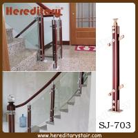 Wholesale Aluminum and Wood Glass Baluster for Stairs (SJ-703) from china suppliers