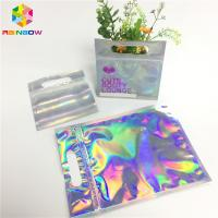 Buy cheap Digital Print Foil Pouch Packaging Clear Front Hologram Zip Lock Bag For Cosmetic Sample from wholesalers