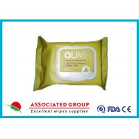 Wholesale Olive Makeup Removal Wet Facial Cleansing Wipes Moisturizing Handbag Size from china suppliers