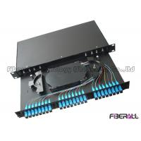 Wholesale Lightweight Fiber Optic Patch Panel Rack Mount With Changeable Adapter Plate And Sliding Rail from china suppliers