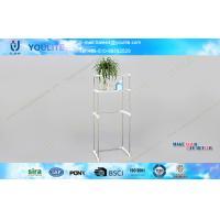 Wholesale Extended Metal Toilet Shelf , Standing 2 Tier Toilet Storage Shelf from china suppliers