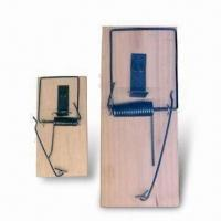 Wholesale Wooden Mouse/Rat Trap, Different Sizes are Available, Made of Wires and Steel from china suppliers