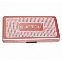 Wholesale Eye Showder Rectangular Tin Box with foam and mirror , cosmetic tin box with hinged lid from china suppliers