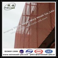 Wholesale Anodized red color aluminum expanded metal for wall facade/cladding from china suppliers