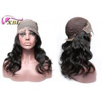 Wholesale Unprocessed Natural Human Hair Lace Front Wigs With Combs / Clips Inside from china suppliers