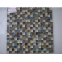 Wholesale Slate Stone Glass Mosaic Tile , 300x300mm Square Glossy And Matt Tile from china suppliers