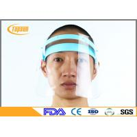 Reusable / Disposable Anti Fog Face Shield Frame , Surgical Mask With Face Shield