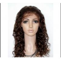 Wholesale Glueless Full Lace Wigs Brazilian Hair No Shedding No Tangle , curly full lace wigs from china suppliers