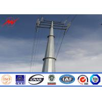 Buy cheap 9M to  11.8M 5KN Electrical Galvanized Steel Power 110kv transmission tower Transmission Poles from wholesalers