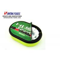 Wholesale Low Calorie Watermelon Sour Fruit Candy Oval Plastic Box ODM Service from china suppliers