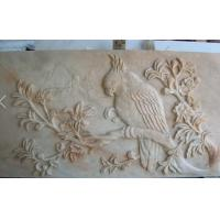 Wholesale Elegant red stone relief bird sculpture from china suppliers