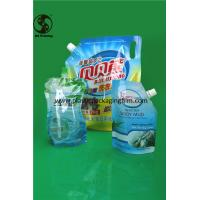 Wholesale Leak Proof Spout Bags , Washing Liquid Packaging Custom Printed Plastic Stand Up Pouch from china suppliers