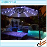 Wholesale Patio Outdoor Furniture 9 Foot Solar Patio Umbrella With Hand Crank System from china suppliers