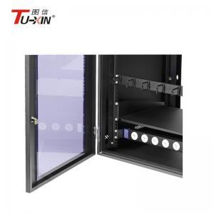 Wall Mount Network Rack Enclosure , Dustproof 6u Computer Server Cabinet