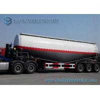 Wholesale Mild steel Q345 / Aluminum 50M3 3 Axle Cement Power Dry Bulk Tank Trailer from china suppliers