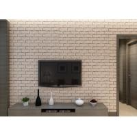 Wholesale Khaki Color Brick Effect 3D Wallpaper Removable Vinyl Material For Sitting Room from china suppliers