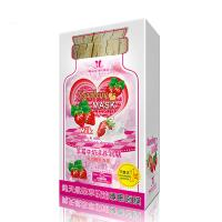 Wholesale Strawberry Advanced Brightening Sleeping Facial Mask Adults With Milk from china suppliers