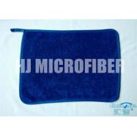 Wholesale Blue 30 * 40  microfiber dish towels , weft twist Ultra Thick Plush Fleece cleaning microfiber cloth from china suppliers