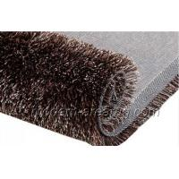 Wholesale Contemporary Color Design Coffee Polyester 1200D Silky Shaggy Rug Carpet Anti-static from china suppliers