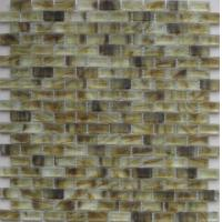 Wholesale Amber yellow glass mosaic for fireplace from china suppliers