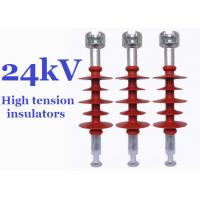 Quality Composite High Tension Insulators , 24kv Hydrophobic Overhead Line Insulators for sale
