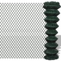 Wholesale Dark Green Residential Chain Link Fence 5ft For Home Garden / Courtyard / Villa from china suppliers