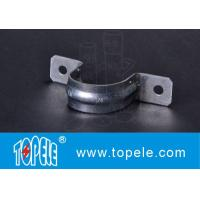 Wholesale EMT Conduit Fittings , Galvanized Steel / Zinc Plated Two Hole EMT Conduit Strap OEM from china suppliers
