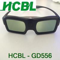 Wholesale Black Thin Frame DLP Active Shutter 3D Glasses With USB Rechargable Battery from china suppliers