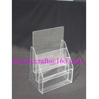 Wholesale 3 Tier Plexiglass Poster Holder Transparent A4 A5 Acrylic Brochure Holder from china suppliers