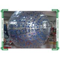 Wholesale Human Hamster Inflatable Rolling Ball in Blue Dots for Children from china suppliers