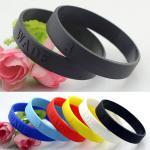 customized logo silicone bracelets wristband