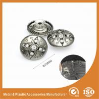 Wholesale Antique Silver Diamond Inlay Jean Buttons , garment trims and accessories from china suppliers