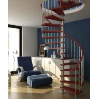 Wholesale Steel Custom Spiral Staircases with Solid Wood Step from china suppliers