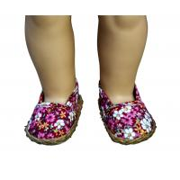 Wholesale Stylish Fashions Floral Pattern Red Doll Shoes for American Girl Dolls Shoes from china suppliers
