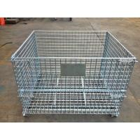 Wholesale Industrial Stackable Welded Steel Wire Mesh Pallet Cage For Warehouse Storage from china suppliers