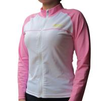 Wholesale BONZ Ladies Pink UPF50+ Sun protection Front Full Zippered Swim Water Jacket Rash Guard Jacket from china suppliers
