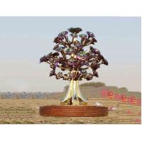 Wholesale Painted Stainless Steel Tree Sculpture With Smooth Surface For City Decoration from china suppliers