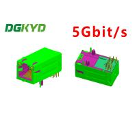 Wholesale 5Gbit/s RJ45 magnetics jack, ethernet industrial connector, 33MM GY/GY from china suppliers