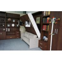 Buy cheap Home Use Space Saving Double Wall Bed With Sofa and Bookshelf , E1 grade MDF from wholesalers