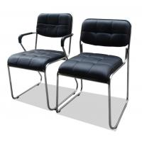 Wholesale Black Computer Office Furniture Chairs Synthetic Leather Metal Frame Comfortable from china suppliers