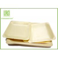 Wholesale 3.5 Inch Wooden Biodegradable Plates , Small Square Dinner Plates For Dessert from china suppliers