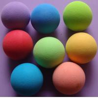 Buy cheap Soft  Durable Bouncing EVA Colored  Foam Balls Good Elasticity from wholesalers