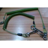 Buy cheap Snap hook on each end terminal transparent green stop drop tooling wire coil lanyard cable from wholesalers