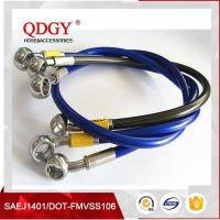 Quality ISO9001Certificated DOT FMVSS106 approved 1/8 size racing car and racing motorcycle stainless steel braided teflon hose for sale