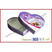 Wholesale Heart-Shape Lecote Chocolate Gift Packaging Boxes With Food Grade Printing , 157G Coated Paper Boxes from china suppliers