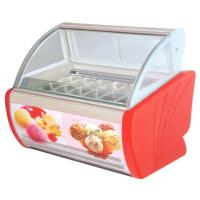 Wholesale 4 trays - 20 trays Countertop Ice Cream Display Freezer , Gelato Freezer Display from china suppliers