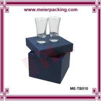 Wholesale Paper gift box for double glass cups, Custom design cardboard box for wine cup ME-TB010 from china suppliers