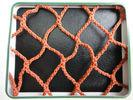 Wholesale Orange PES Yarn HDPE Fishing Nets 100mm to 700mm For Fish Pond / Drag Net from china suppliers
