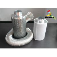 Quality Zinc Anodized Steel Activated Charcoal Air Filter Efficiency With Cotton Mesh for sale